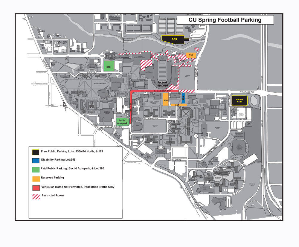 Spring Game Parking Info - Colorado